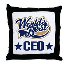 CEO Gift (Worlds Best) Throw Pillow