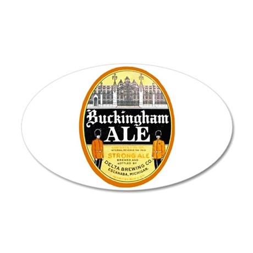 Michigan Beer Label 4 38.5 x 24.5 Oval Wall Peel