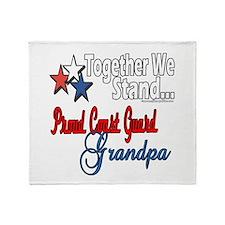 Coast Guard Grandpa Throw Blanket