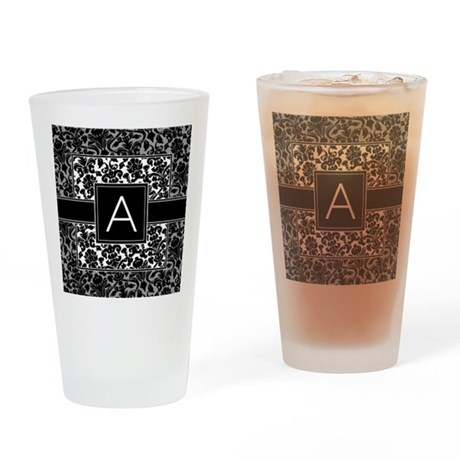 Monogram Letter A Drinking Glass
