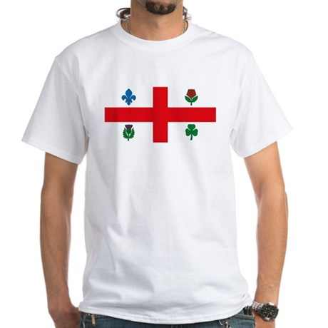 Montreal Flag White T-Shirt