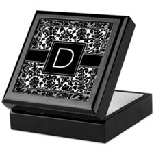 Monogram Letter D Keepsake Box