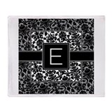 Monogram Letter E Gifts Throw Blanket