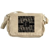 Monogram Letter E Gifts Messenger Bag