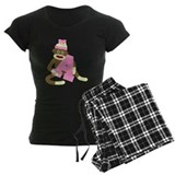 Sock Monkey Monogram Girl A pajamas