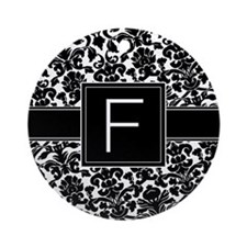 Monogram Letter F Gifts Ornament (Round)