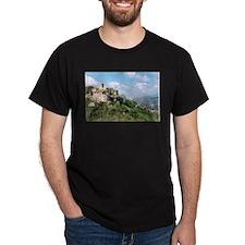 Roccacaramanico Italy Black T-Shirt