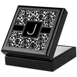Monogram Letter J Gifts Keepsake Box