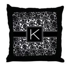 Monogram Letter K Gifts Throw Pillow