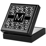 Monogram Letter M Keepsake Box