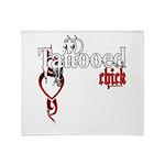 Tattooed Chick Throw Blanket