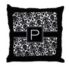 Monogram Letter P Gifts Throw Pillow