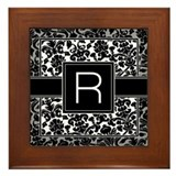 Monogram Letter R Gifts Framed Tile