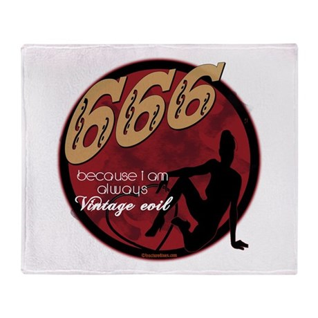666 Devilish Sign Female Throw Blanket