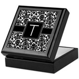 Monogram Letter T Gifts Keepsake Box