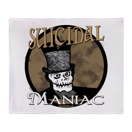 Suicidal Maniac Throw Blanket