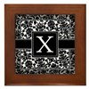 Monogram Letter X Gifts Framed Tile