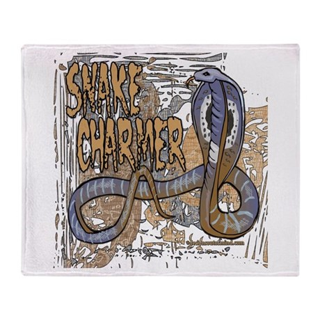 Snake Charmer Throw Blanket