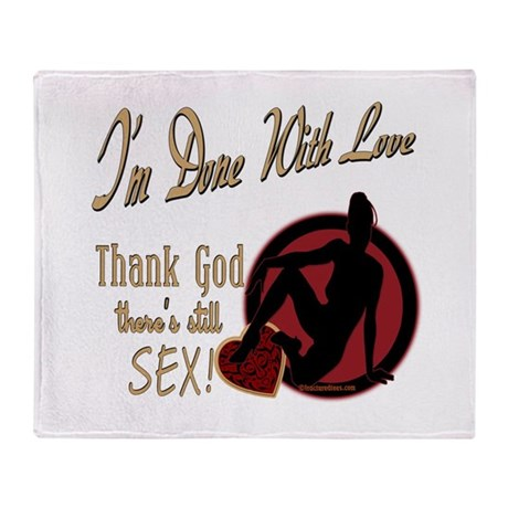 Let's Talk About Sex Series Throw Blanket
