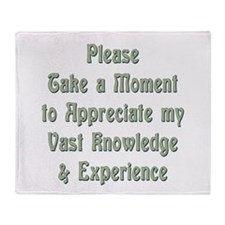 Vast Knowledge Throw Blanket