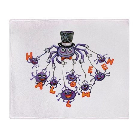 Halloween Spider Throw Blanket