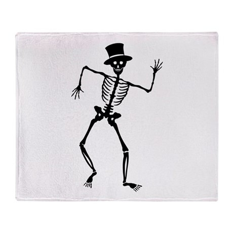 Dancing Skeleton Throw Blanket
