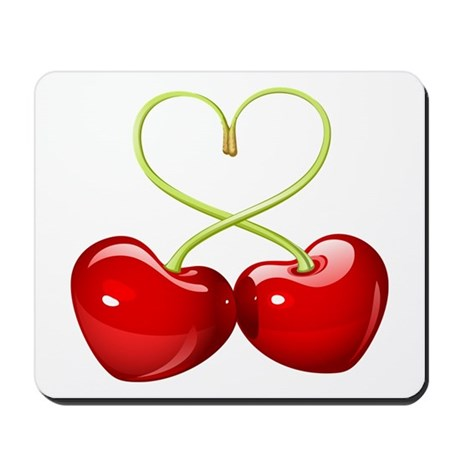 cherry love Mousepad