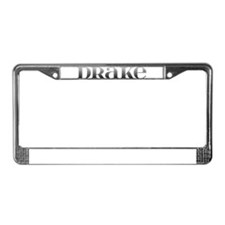 Drake Carved Metal License Plate Frame
