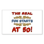 Real Fun 50th Birthday Sticker (Rectangle)