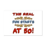 Real Fun 50th Birthday Mini Poster Print