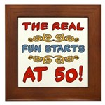 Real Fun 50th Birthday Framed Tile