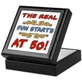 Real Fun 50th Birthday Keepsake Box