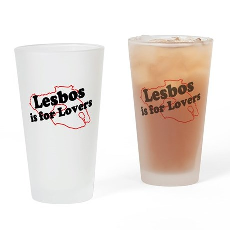 Lesbos is for Lovers Drinking Glass