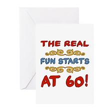 Real Fun 60th Birthday Greeting Cards (Pk of 10)