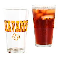 Navarre University Lynx Name Drinking Glass