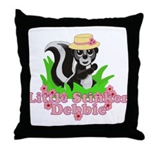 Little Stinker Debbie Throw Pillow