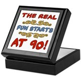 Real Fun 90th Birthday Keepsake Box