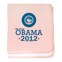 Re-elect Obama 2012 baby blanket