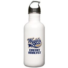CREDIT ANALYST Gift (Worlds Best) Water Bottle