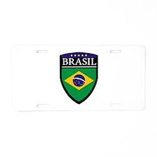 Brasil Flag Patch Aluminum License Plate