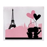 Paris love Throw Blanket