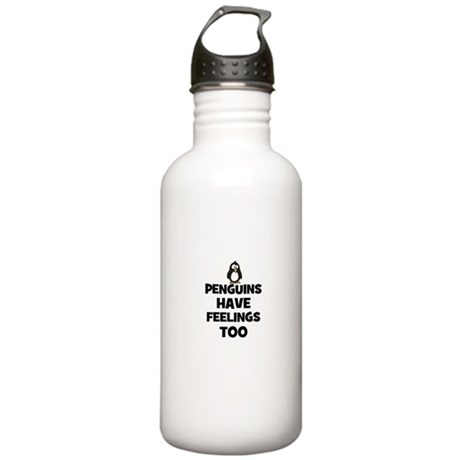 penguins have feelings too Stainless Water Bottle