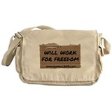 Will Work for Freedom - Websi Messenger Bag