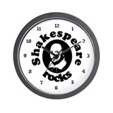 Shakespeare Rocks Wall Clock