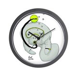 SCUBA Manatee Wall Clock