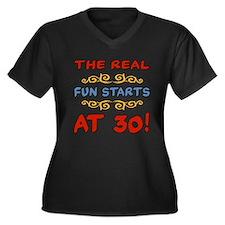 Real Fun 30th Birthday Women's Plus Size V-Neck Da