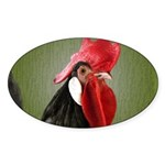 Rooster 1 Sticker (Oval 10 pk)