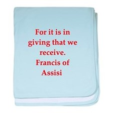 Saint Francis of Assisi baby blanket
