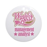 Management Analyst Gift (Worlds Best) Ornament (Ro