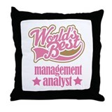 Management Analyst Gift (Worlds Best) Throw Pillow